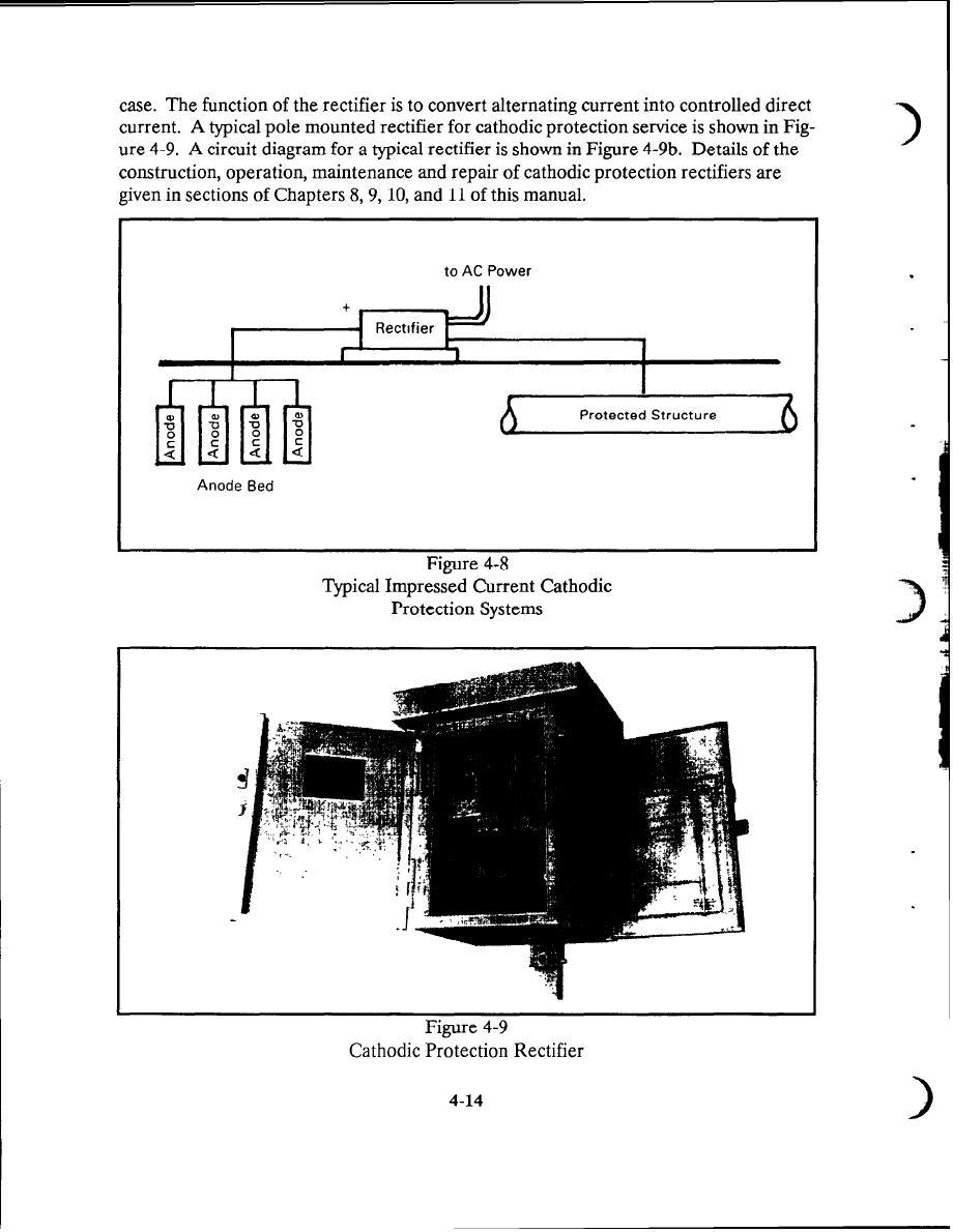 Figure 4 9 Catholic Protection Rectiifer Cathodic Wiring Diagram 9b Circuit For Typical Rectifier