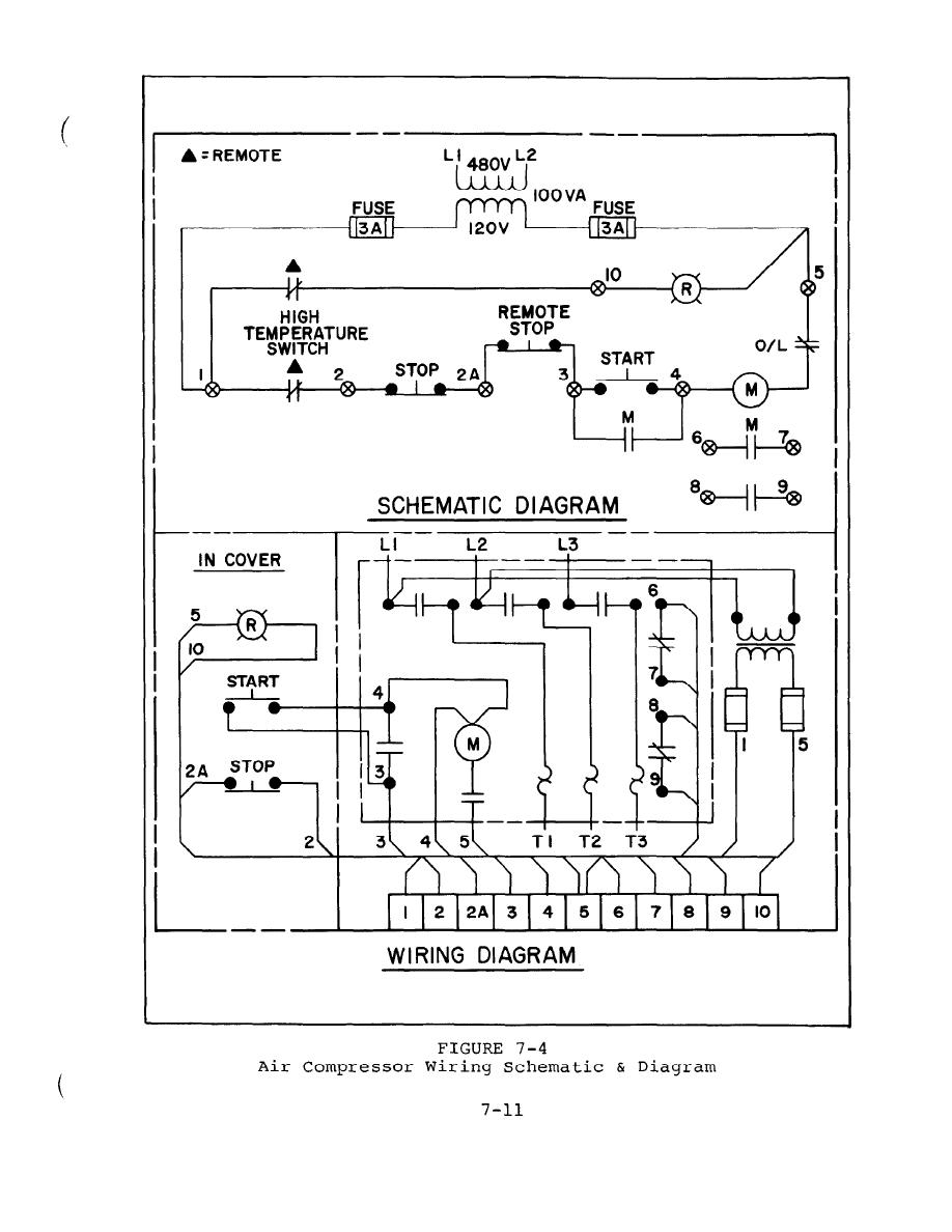 air compressor 115v wiring schematic figure 7-4 air compressor wiring schematic and diagram air compressor 220v wiring diagram